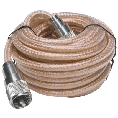 12' Cable Coaxial RG8X. se Connecte PL259 à PL259 (UHF)