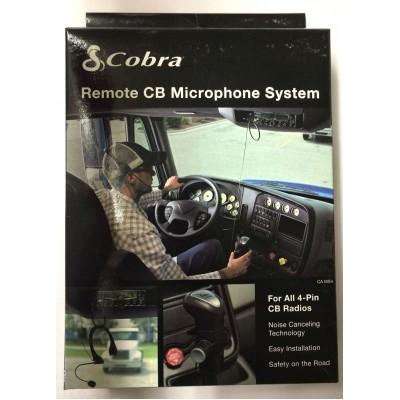 Casque d'Écoute Main-Libre Cobra - Casque d'Écoute boom et PTT sur velcro. avec Fil (pas Bluetooth)