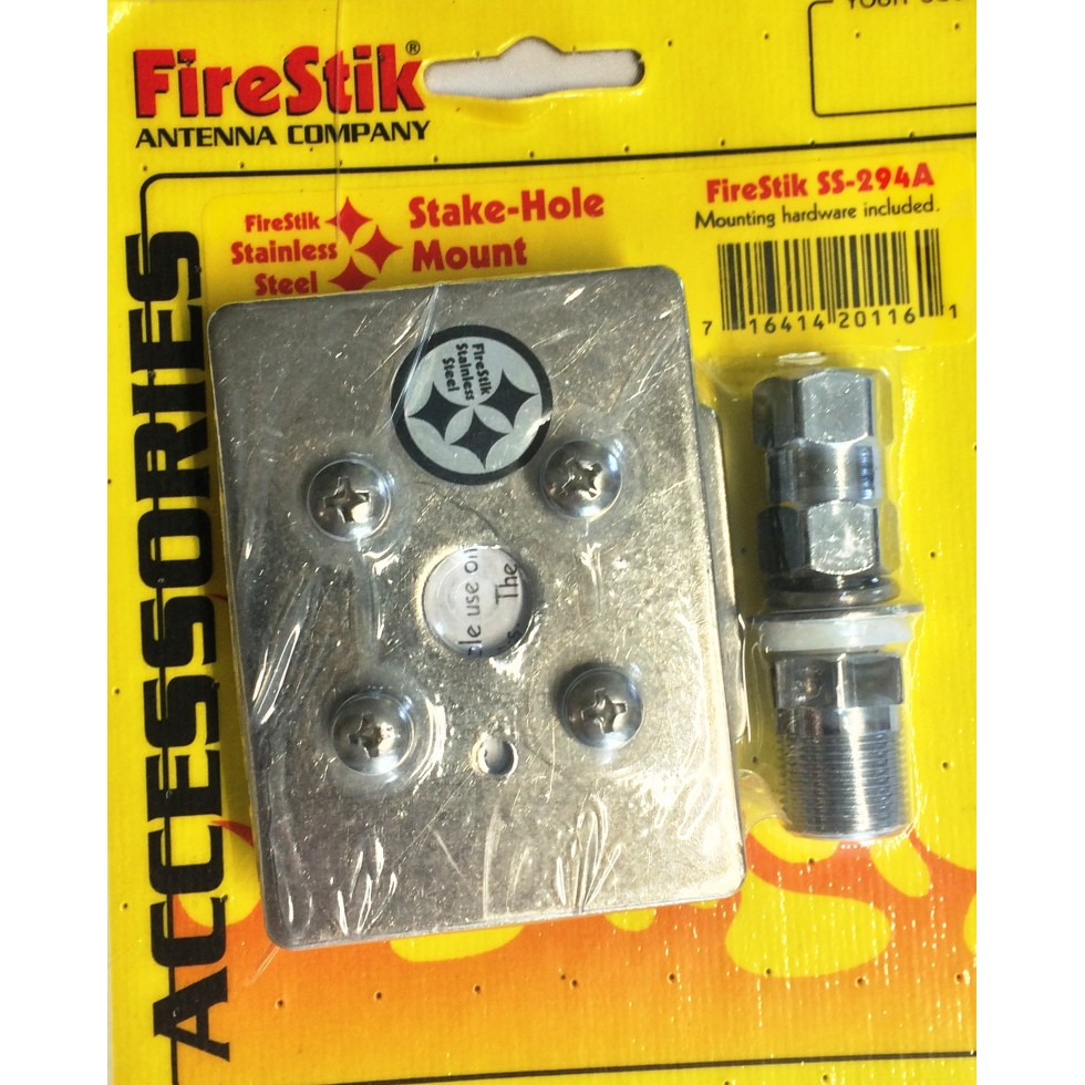 Pick-up Truck Stakehole Mount for Antenna, No Drilling Required