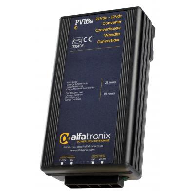 PV18S Convertisseur de Tension Alfatronix 24VDC à 12VDC. 18/21 amp. Surge / PV18S Alfatronix Voltage Converter 24VDC to 12VDC 18A C/21A