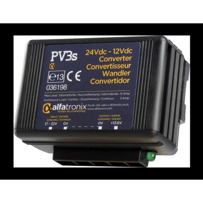 PV3S Convertisseur de Tension Alfatronix 24V à 12V. 3/6 amp. Surge / PV3S Alfatronix Voltage Converter 24VDC to 12VDC 3A C/6A S