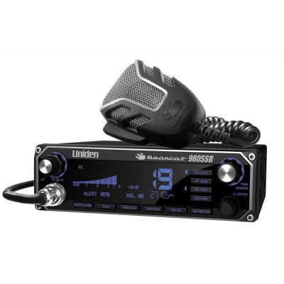 Bearcat 980 SSB, radio CB  Uniden 40 canaux AM/SSB, de luxe avec écran numérique en couleur - Bearcat 980 SBB, Uniden CB radio 40 channels, luxury model with digital color screen
