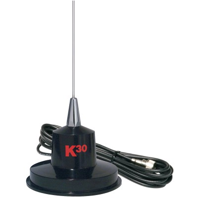 K30 Antenne Magnetic - Antenne Acier Inoxidable 35'' - 15' Cable Coaxial RG58 /Magnetic Antenna - 35'' Stainless Whip Whip, 15' RG58 Coaxial Cable