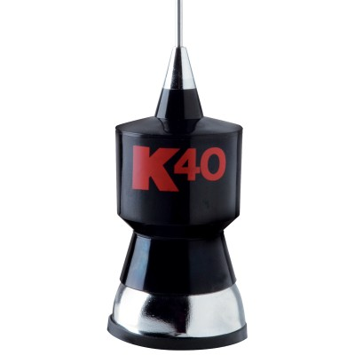 K40 Antenne MAGNÉTIQUE - Base Magnétique, 58'' Whip, 18' RG58 Cable Coaxial