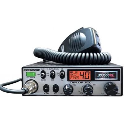Taylor, CB mobile President, 40 canaux AM/FM, 12/24 Volts DC, USB, météo - Taylor, President mobile CB, 40 channels AM/FM, 12/24 Volts DC, USB, weather