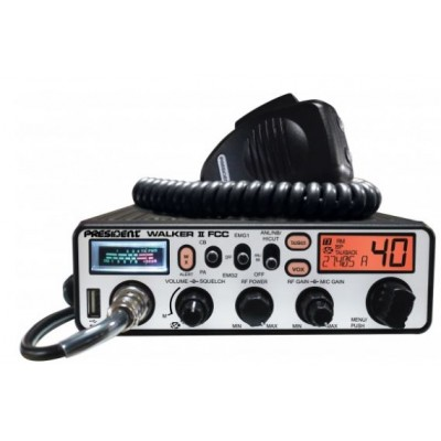 WALKER II - CB President Electronics 40 canaux AM DIN avec VOX, Meteo, ANL, NB, HiCut, TB etc!