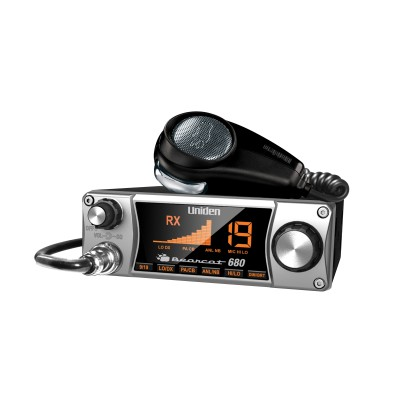 Bearcat 680, radio CB  Uniden 40 canaux AM, de luxe avec écran numérique en couleur - Bearcat 680, Uniden CB radio 40 channels, luxury model with digital color screen
