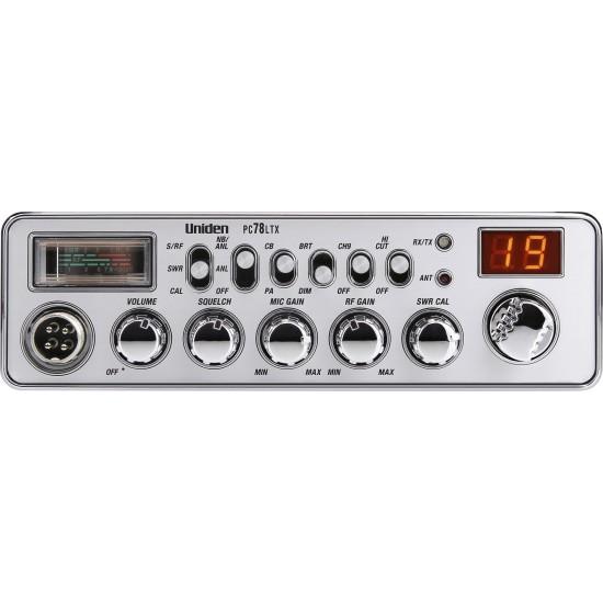Uniden PC78LTX Radio CB - PA - Mic/RF Gain